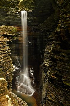 ..Waterfall, Watkins Glen, New York..