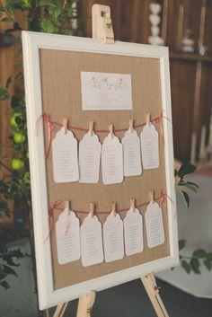 Sitzplan im Vintage Look Hochzeit Seating Plan Wedding Jute Burlap