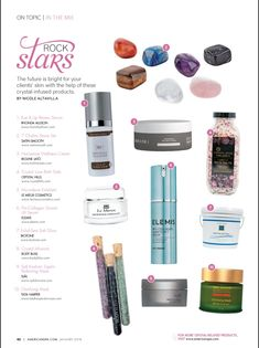 Rock Stars. The future is bright for your clients' skin with the help of these crystal-Infused products.