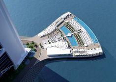 """Und wieder hat Dubai eine Weltneuheit: Das Burj Al Arab Jumeirah bekommt im Frühling 2016 ein schwimmendes Sonnenplateau. Das """"North Deck"""" ist aber nur für Hotelgäste."""