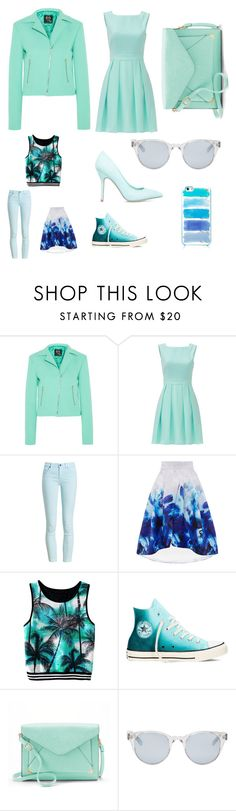 """Green is out "" by piccolamarisa ❤ liked on Polyvore featuring McQ by Alexander McQueen, Kate Spade, Barbour, Converse, ShoeDazzle, Apt. 9 and Sun Buddies"