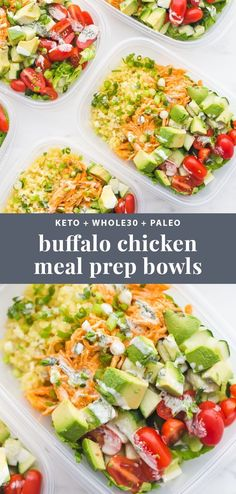 This buffalo chicken ranch meal prep is meal prep perfection! Totally loaded with flavor, protein, healthy fats, and fiber, this meal prep is the best way to go into lunch swinging. With cauliflower rice and homemade ranch… Read more › Cooking Recipes, Healthy Recipes, Keto Recipes, Recipes For Meal Prep, Healthy To Go Meals, Meal Prep Dinner Ideas, Easy Lunch Meal Prep, Dinner Recipes, Fast Recipes
