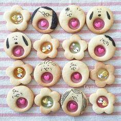 Kawaii Cookies, Fancy Cookies, Iced Cookies, Cute Cookies, Cupcake Cookies, Sugar Cookies, Bolacha Cookies, German Cookies, Cookie Time