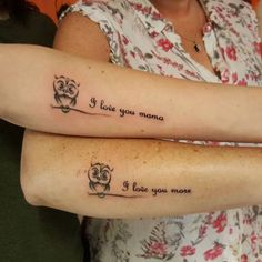 Celebrate the lovely bond that you people share with some sweet mother-daughter tattoos. These tattoos seem to be just the perfect way of honoring your relationship.