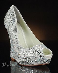 Wedge Wedding Shoes by My Glass Slipper - Mila by Benjamin Adams - Shoes. Must wear wedges Sparkly Wedding Shoes, Wedding Wedges, Wedge Wedding Shoes, Bridal Shoes, Sparkly Shoes, Bling Wedding, Bridal Wedges, Rhinestone Wedding, Bridal Bouquets