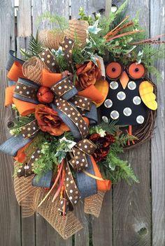 Fall Wreath Autumn Wreath Fall Decor Autumn Decor by BaBamWreaths