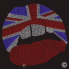 Union Jack Lips I... Creating Art on clothing just as unique as you are Now Available at http://inkrocks.com/products/union-jack-lips-iron-on-rhinestone-transfer-decal?utm_campaign=social_autopilot&utm_source=pin&utm_medium=pin