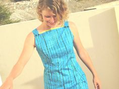 Spring Turquoise Aqua Designer Women's Dress by africanbaskets