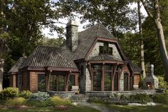 tiny houses and cottages | Trian Timber Frame Cabin Home - Rustic Luxury Log Cabins & Plans