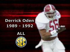Derrick Oden #CrimsonTide 1989-1992 #AllSEC