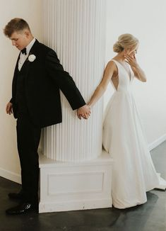 Flirty and fabulous, introducing the Octavia Gown! The BHLDN x Jenny Yoo bridal collection is nothing short but perfect. Featuring gowns with deep v cuts, open backs, pockets, illusion tulle and full trains! Wedding dresses made for the elegant, modern and youthful bride.