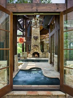 Indoor Hot Tub And Spa Area Dream Home Pinterest Hot