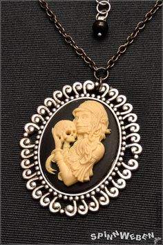 New Gothic Dia de los Muertos Amulet  necklace locket