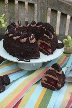 TORTEN LUST: {Rezept + WERBUNG} Oreo-Kirsch-Kranz - TortenLust triift Home of Cake