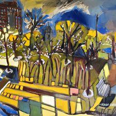 Community Garden. Erin McGee Ferrell LIVE Paints inner city garden through the seasons. Philadelphia-artist.com Portland, Maine