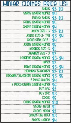 graphic relating to Printable Garage Sale Price List named 45 Excellent Garage Sale Pricing shots within 2019 Garage sale