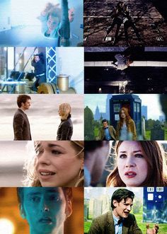 "He almost kept them. When I was watching ""Angels take Manhattan"" I thought of this... Some of the hardest goodbyes for the Doctor. He had them both for so long. Donna and others were just as hard, but they were different at the same time. Rose and Amy... they were the first face that that face ever saw."