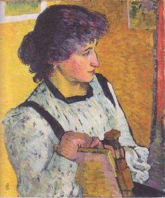 A portrait by Giovanni Giacometti (1868 - 1933)