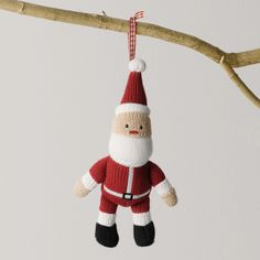 Knitted Father Christmas Decoration - Childrens Christmas | The White Company