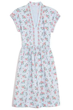 Gal Meets Glam Cecily Dress in Blue/Coral – Hampden Clothing Hampden Clothing, Gal Meets Glam, Coral Blue, Smocking, Elastic Waist, Short Sleeves, Short Sleeve Dresses, V Neck, Final Sale