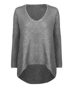 Look at this #zulilyfind! Gray Basket-Knit Hi-Low Sweater #zulilyfinds