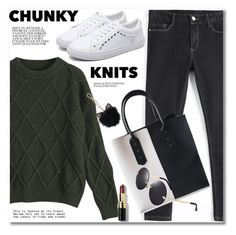 """""""Chunky knits"""" by fshionme ❤ liked on Polyvore featuring LC Lauren Conrad, Bobbi Brown Cosmetics and chunkyknits"""