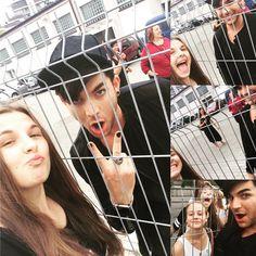 Adam Lambert with fans in Poland