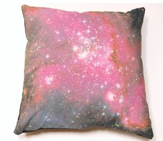 {galaxy pillow} rest your head on the universe! want.