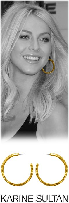 Julianne Hough wears Aline earrings by Karine Sultan jewelry