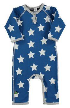 molo 'Fleming' Star Print Romper (Baby Boys) available at #Nordstrom