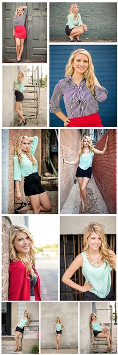 Senior Photography - Senior Poses - urban - city - downtown - mckinney - bricks - old - sisters - blonde