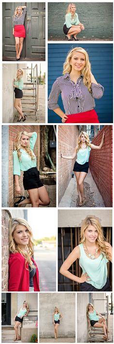 Senior Photography - Senior Poses - urban - city - downtown - mckinney - bricks - old - sisters - blonde