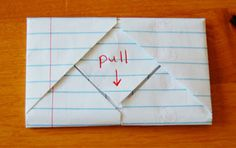 Directions for folding this fun note and idea for what to write in it :)