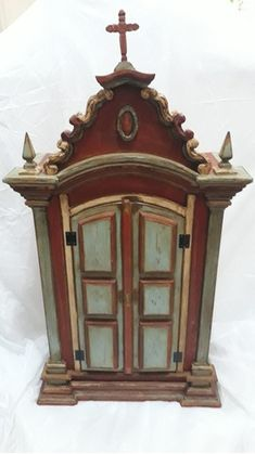 1, Clock, Antiques, Decor, Cabinet, Red And Blue, Main Colors, Step By Step, To Suffer