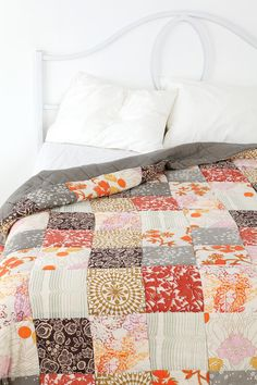 Patchwork Duvet Cover...do something like this for wedding. Get cool fabric and people can leave notes on the fabric to be sewn together