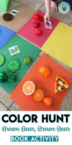 Brown Bear, Brown Bear Color Hunt Color Activity Preschool Activity