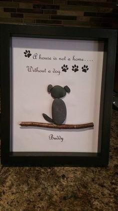 Pet pebble art by SDCreations0813 on Etsy