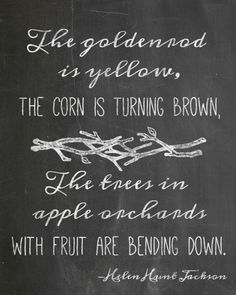 Goldenrods, Corn, and Apples Free Chalkboard Printable from TheDomesticHeart.com