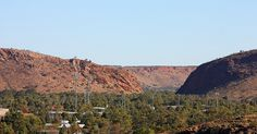 Alice Springs from Anzac Hill - photo shows Heavitree Gap, known as 'The Gap' by locals and as 'Ntaripe' (un-DAR-ip-uh) in Arrernte.