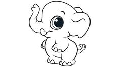 Learning Friends Elephant coloring printable from LeapFrog. The Learning Friends prepare kids for school in a playful way!  When children color, they strengthen the small muscles in their hands that help them learn to write. Encourage children to color by providing lots of access to coloring pages and crayons.