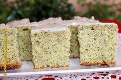 Prajitura cu mac si glazura de zahar Vanilla Cake, Mac, Sweets, Make It Yourself, Desserts, Food, Youtube, Salads, Tailgate Desserts