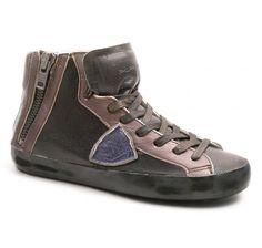 Philippe Model bronze leather women sneakers (BIHD EL02) - Bledoncy