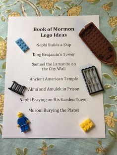 Sabbath Activities, Sunday Activities, Church Activities, Activity Days, Lego Activities, Lds Object Lessons, Primary Lessons, Conference Planning, General Conference