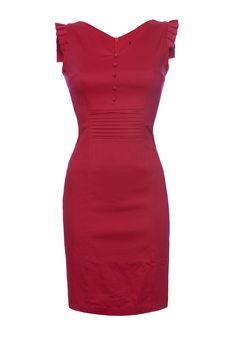 Button Detail Fitted Dress - Dresses - Women
