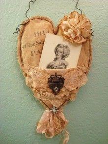 vintage heart pocket