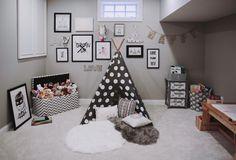 Jonathan Steinitz Interior Design - Neutral Family Home Playroom Teepee