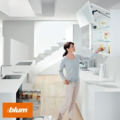 SERVO-DRIVE for AVENTOS - Everyday tasks such as emptying the dishwasher and putting glassware away are stress-free with Blum's electrical motion support system.