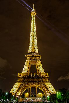 Midnight Eiffel Tower, Paris, France