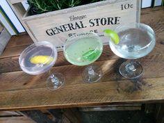 Trio of gimlets at 2014 Gin Festival, General Store, Dog Bowls, Drinks, Vintage, Drinking, Beverages, Drink, Vintage Comics