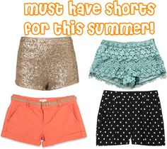 Must have shorts for this summer